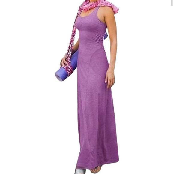 Athleta Dresses & Skirts - Athleta Purple Twist & Turn maxi Dress XS